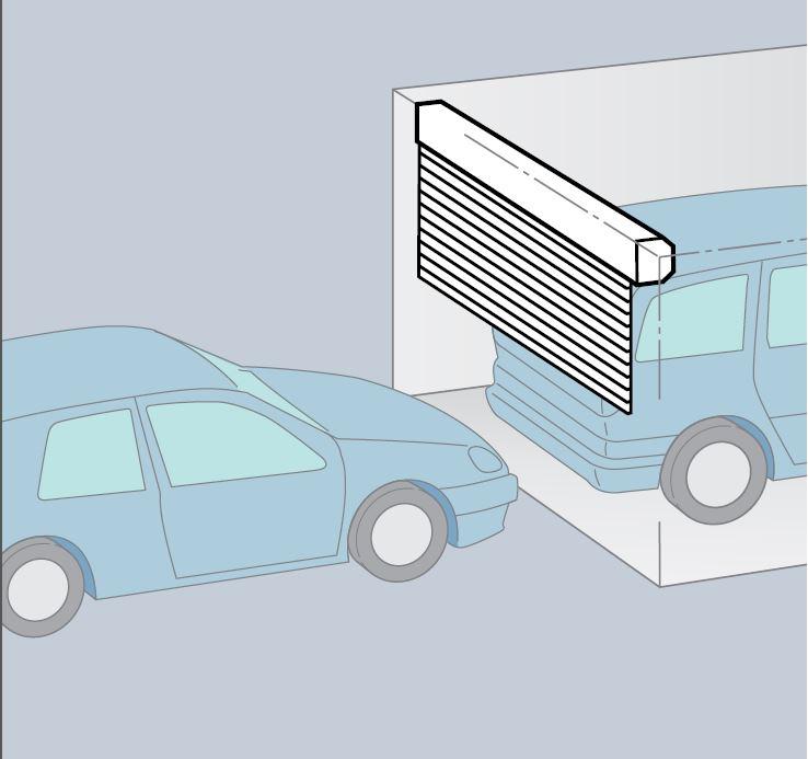 installation d une porte de garage enroulable pour copropri t allauch vente de portail. Black Bedroom Furniture Sets. Home Design Ideas